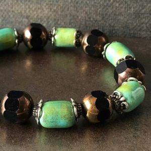 Glass Beads 🌸2/$10 Bracelet Brown & Green